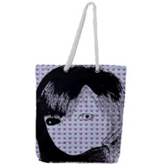 Heartwill Full Print Rope Handle Tote (large)
