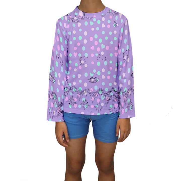 Little Face Kids  Long Sleeve Swimwear