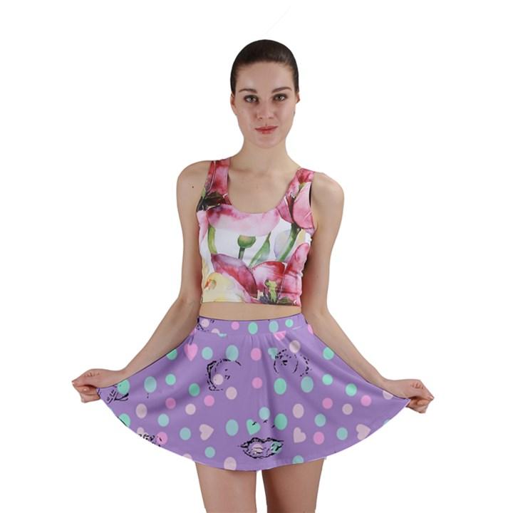 Little Face Mini Skirt