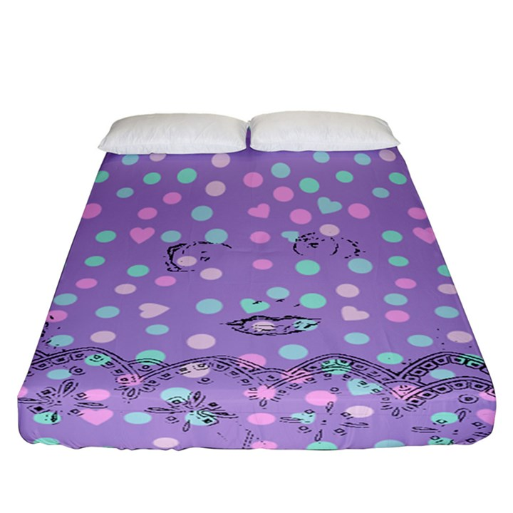Little Face Fitted Sheet (California King Size)