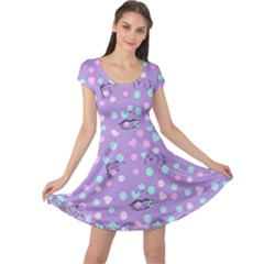 Little Face Cap Sleeve Dress