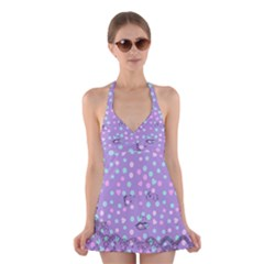 Little Face Halter Dress Swimsuit