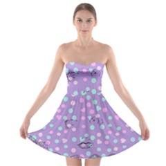 Little Face Strapless Bra Top Dress