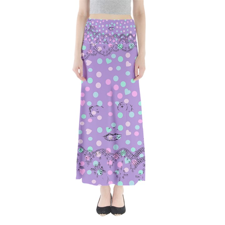 Little Face Full Length Maxi Skirt