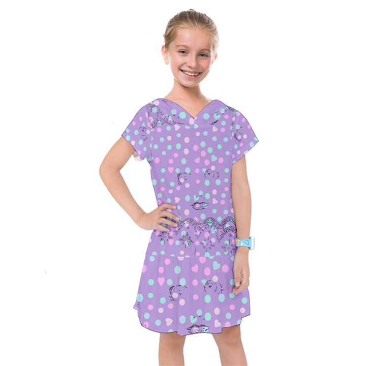 Little Face Kids  Drop Waist Dress