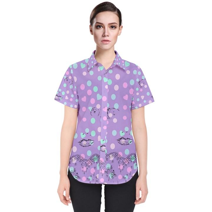 Little Face Women s Short Sleeve Shirt