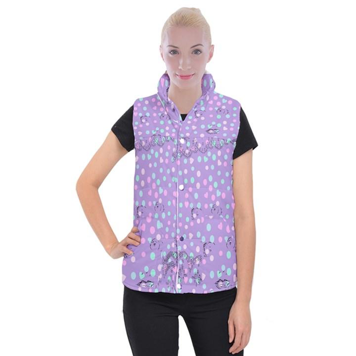 Little Face Women s Button Up Puffer Vest