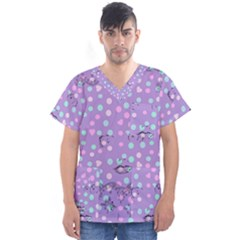 Little Face Men s V Neck Scrub Top