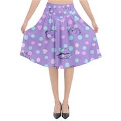 Little Face Flared Midi Skirt