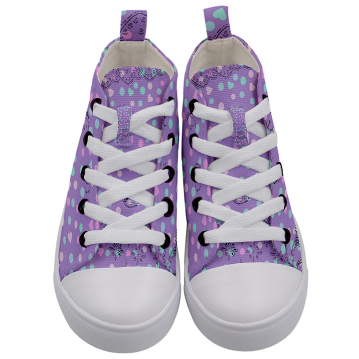 Little Face Kid s Mid-Top Canvas Sneakers