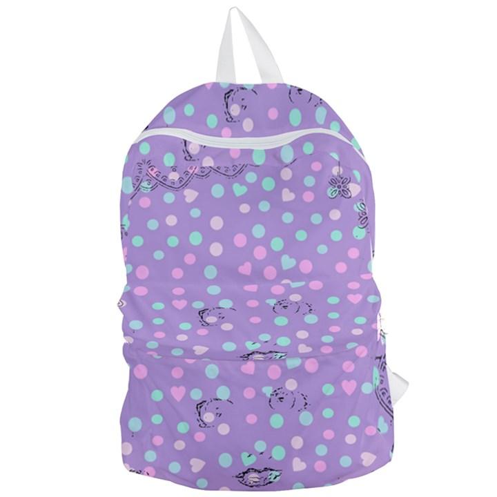 Little Face Foldable Lightweight Backpack