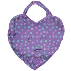 Little Face Giant Heart Shaped Tote