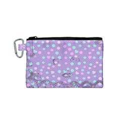 Little Face Canvas Cosmetic Bag (small)