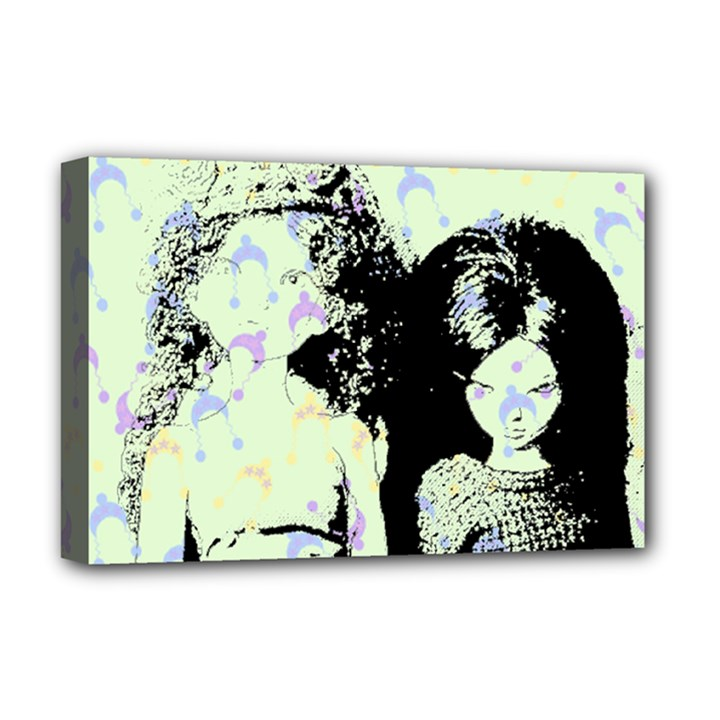 Mint Wall Deluxe Canvas 18  x 12