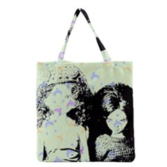 Mint Wall Grocery Tote Bag