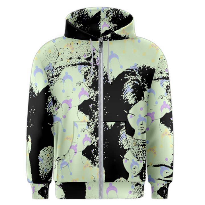 Mint Wall Men s Zipper Hoodie