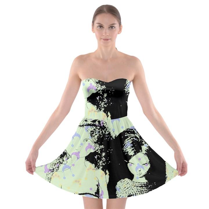 Mint Wall Strapless Bra Top Dress