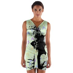 Mint Wall Wrap Front Bodycon Dress