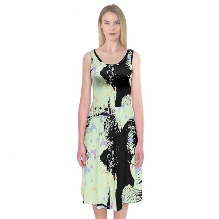 Mint Wall Midi Sleeveless Dress
