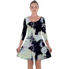 Mint Wall Quarter Sleeve Skater Dress