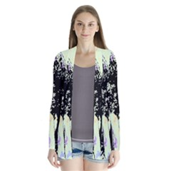 Mint Wall Drape Collar Cardigan