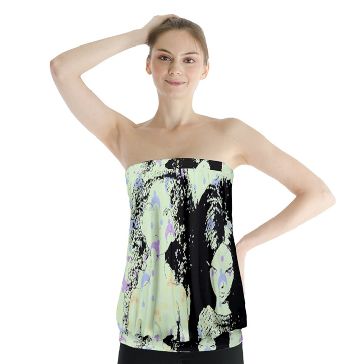 Mint Wall Strapless Top
