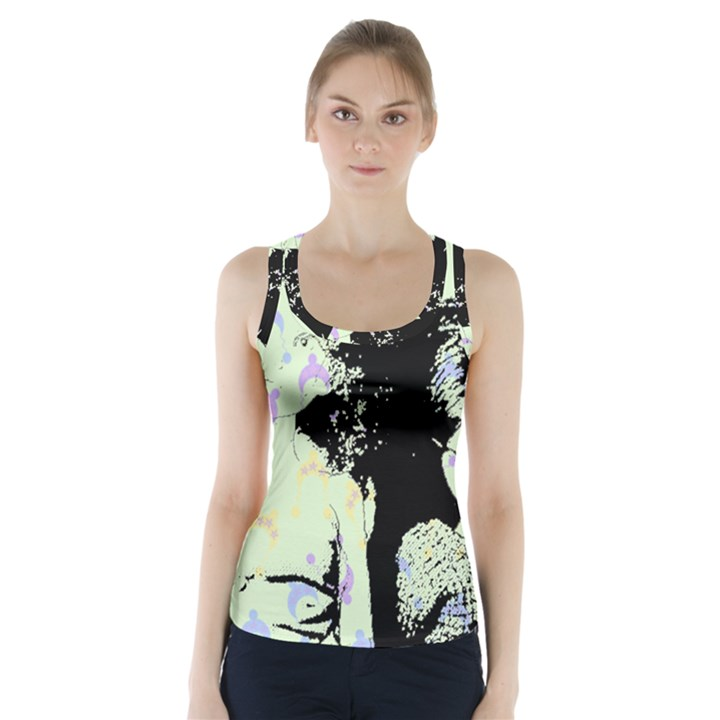 Mint Wall Racer Back Sports Top