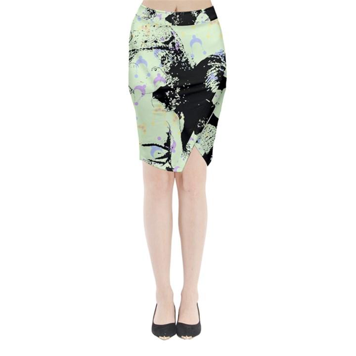 Mint Wall Midi Wrap Pencil Skirt