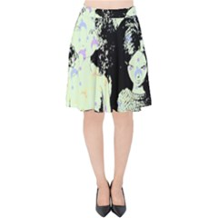 Mint Wall Velvet High Waist Skirt