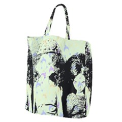 Mint Wall Giant Grocery Zipper Tote