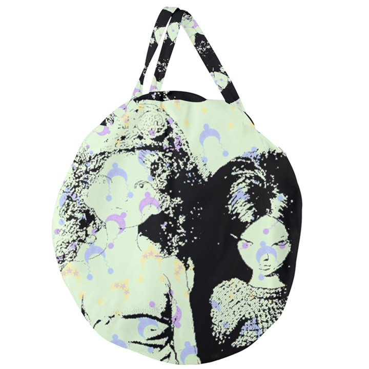 Mint Wall Giant Round Zipper Tote