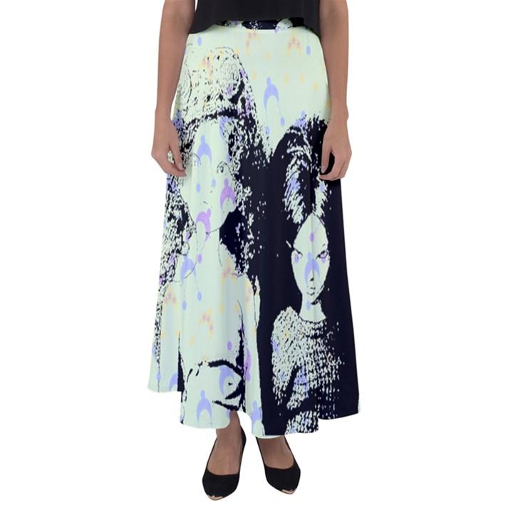 Mint Wall Flared Maxi Skirt
