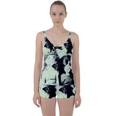 Mint Wall Tie Front Two Piece Tankini