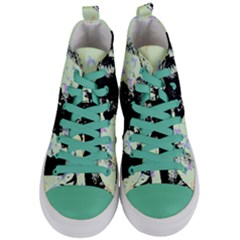 Mint Wall Women s Mid Top Canvas Sneakers