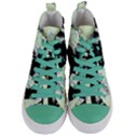 Mint Wall Women s Mid-Top Canvas Sneakers View1