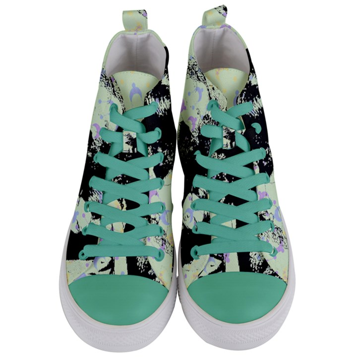 Mint Wall Women s Mid-Top Canvas Sneakers