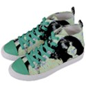 Mint Wall Women s Mid-Top Canvas Sneakers View2