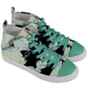 Mint Wall Women s Mid-Top Canvas Sneakers View3