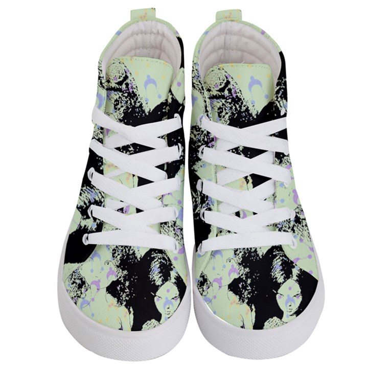 Mint Wall Kid s Hi-Top Skate Sneakers