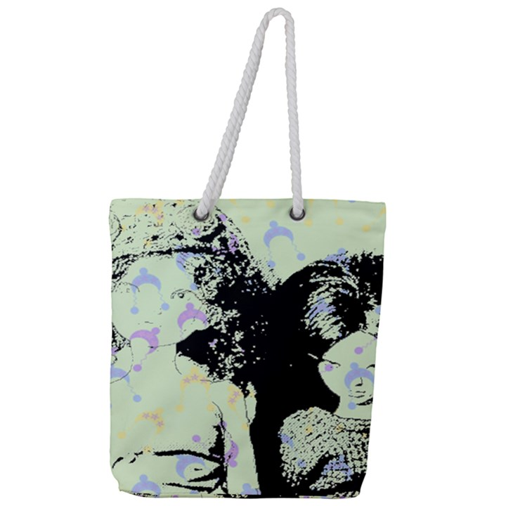 Mint Wall Full Print Rope Handle Tote (Large)