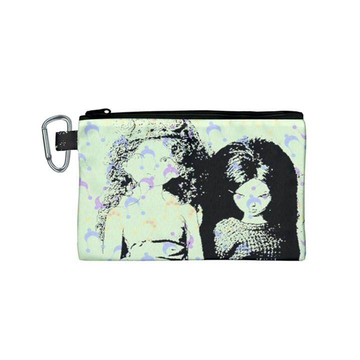 Mint Wall Canvas Cosmetic Bag (Small)