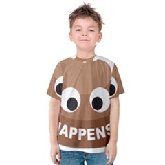 Poo Happens Kids  Cotton Tee