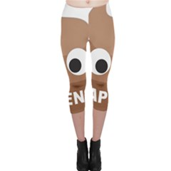 Poo Happens Capri Leggings
