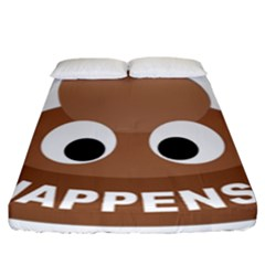 Poo Happens Fitted Sheet (california King Size)
