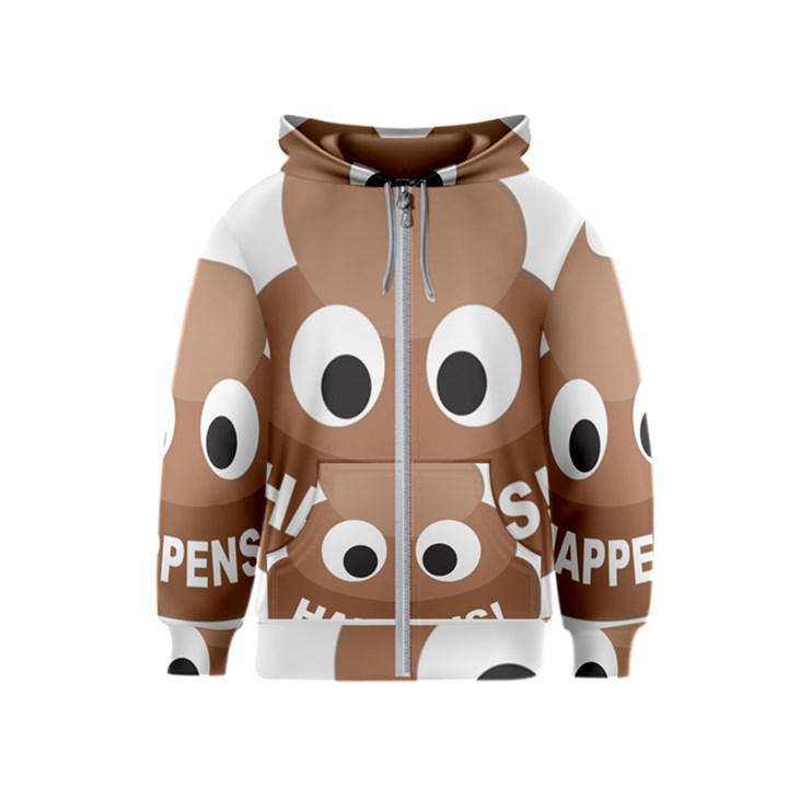 Poo Happens Kids  Zipper Hoodie