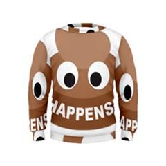 Poo Happens Kids  Sweatshirt