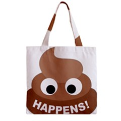Poo Happens Zipper Grocery Tote Bag