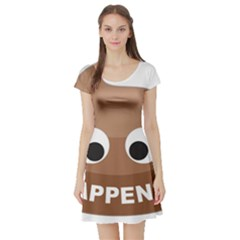 Poo Happens Short Sleeve Skater Dress