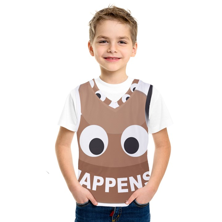 Poo Happens Kids  SportsWear