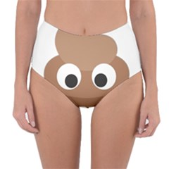 Poo Happens Reversible High Waist Bikini Bottoms